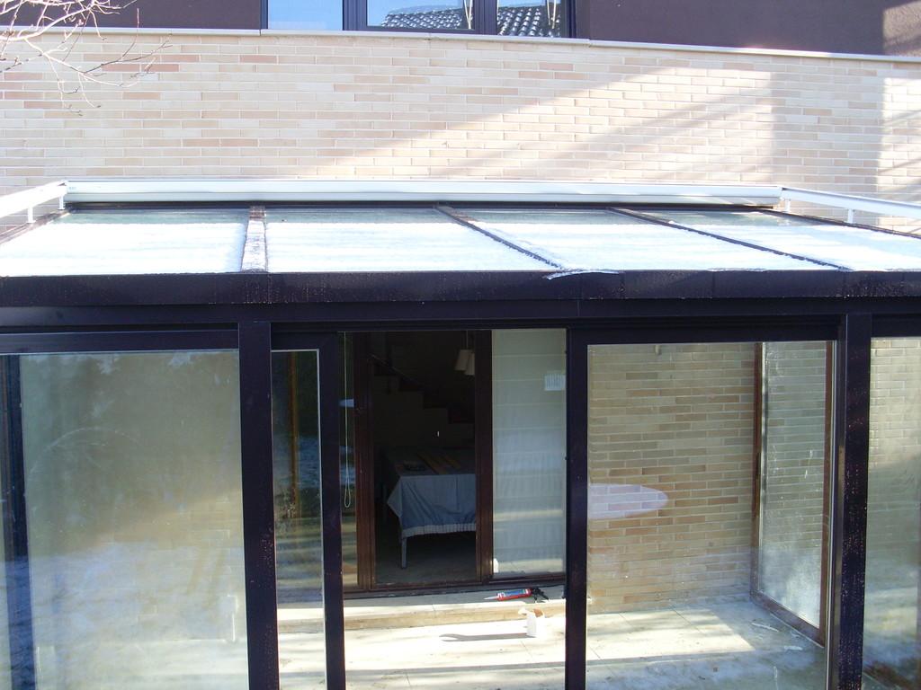 Techos de vidrio y aluminio