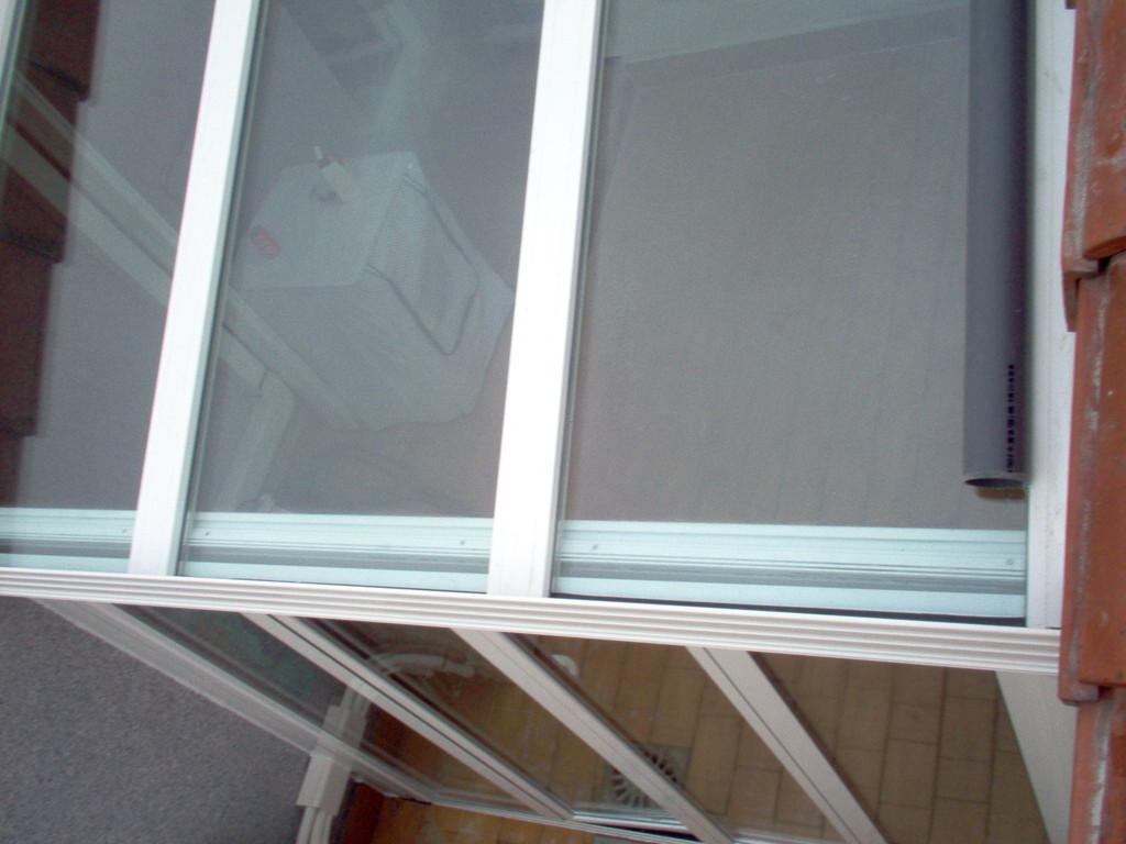 Cerramiento de terraza con cristal