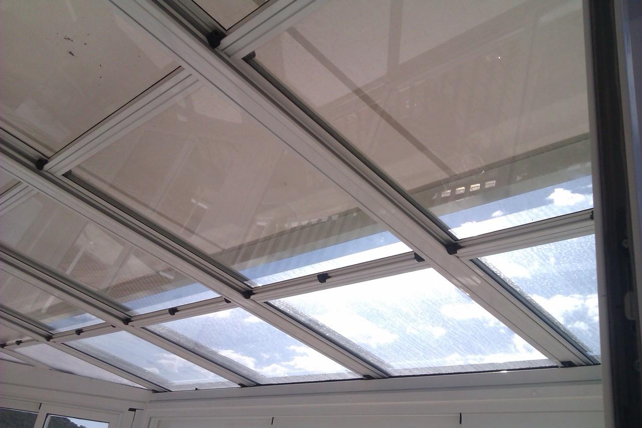 techo móvil vidrio Zaragoza