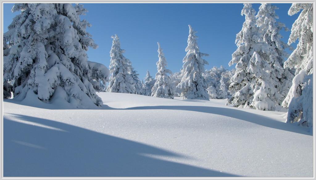 Sur la crête en hiver