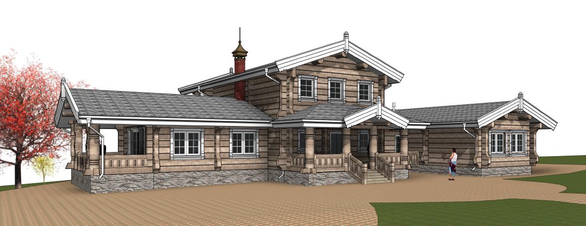 Дизайн рубленных домов