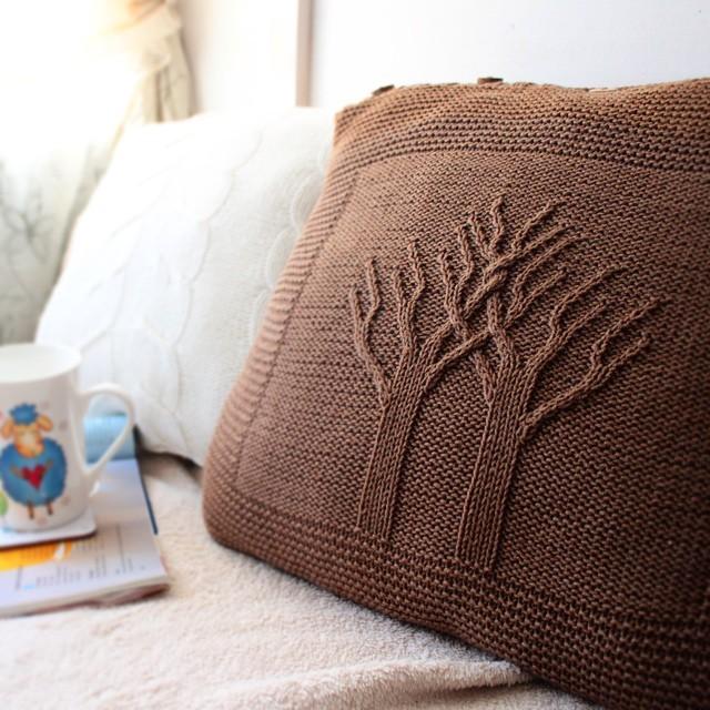 Вязанные наволочки и подушки схемы