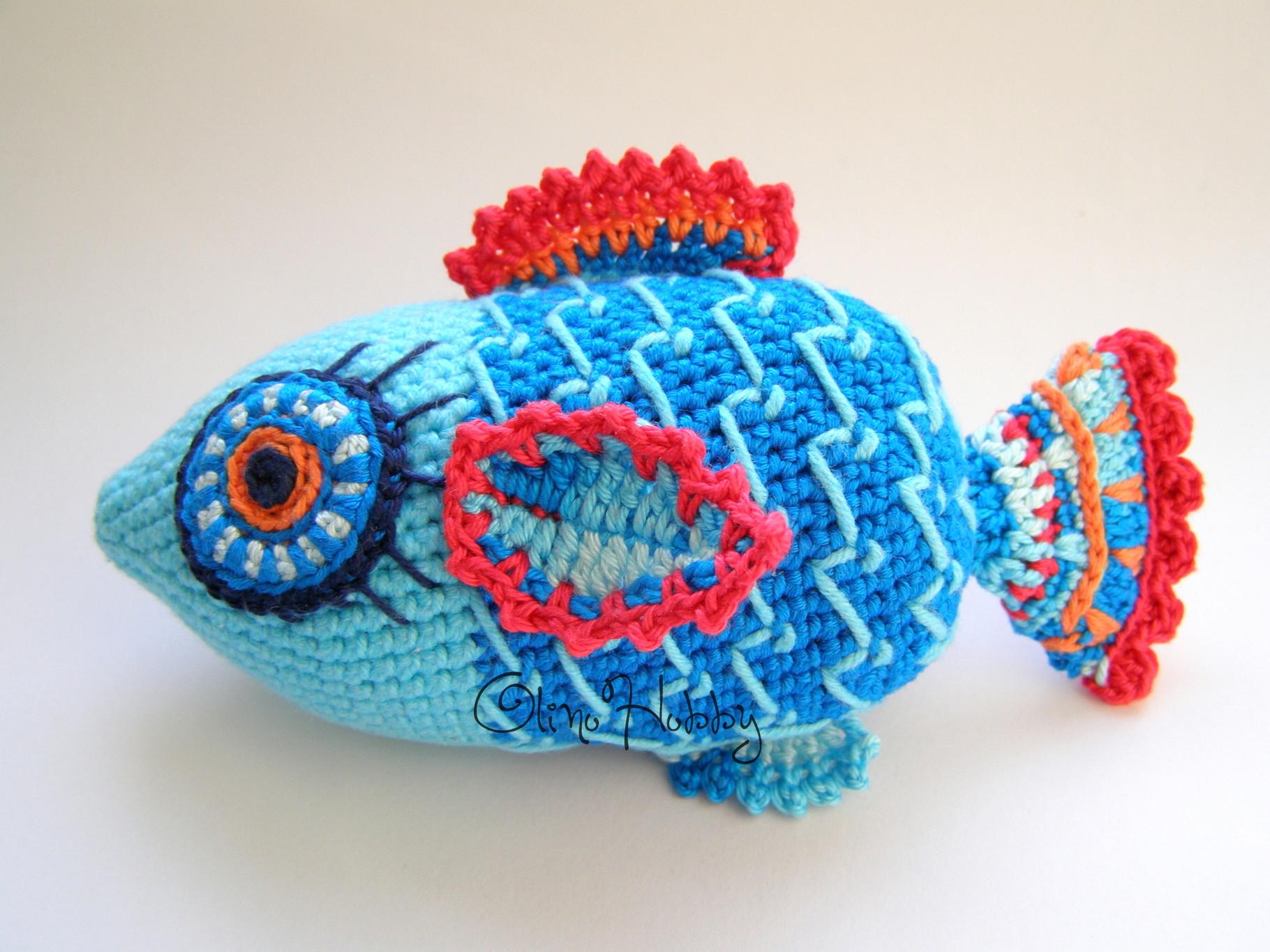 Вязание крючком рыбки 48