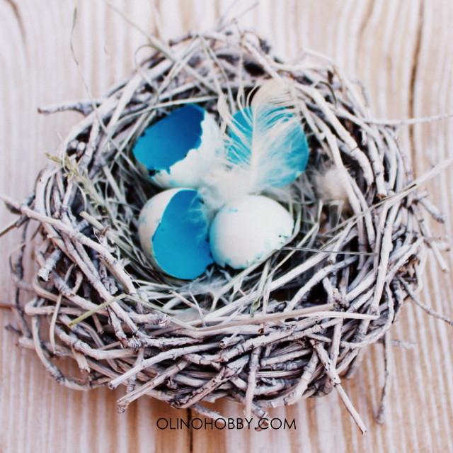 Как сделать декоративное гнездо своими руками из веток