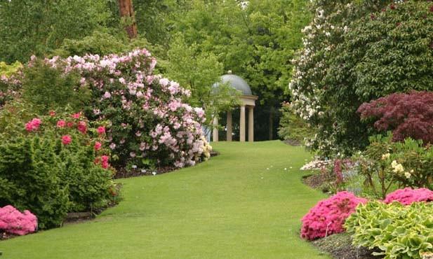 Фрагменты сада и цветников в смоленской облати