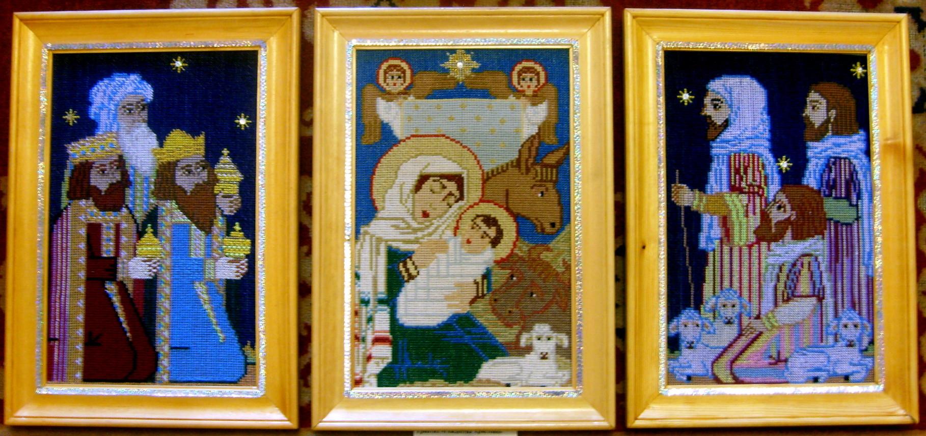 Вышивка крестом рождество христово 23