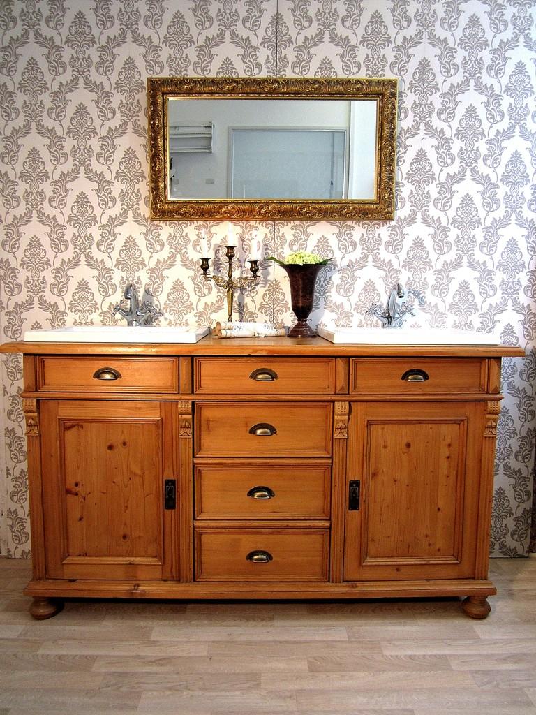 naturholz waschtisch land liebe. Black Bedroom Furniture Sets. Home Design Ideas