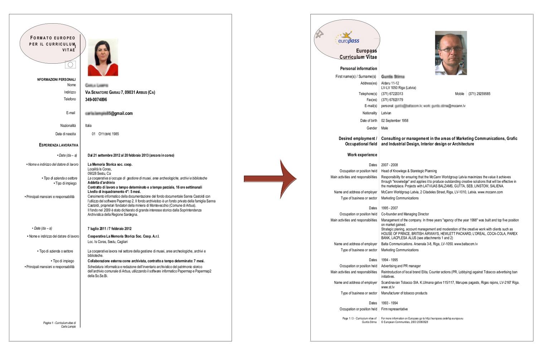 Curriculum Vitae Download Da Compilare
