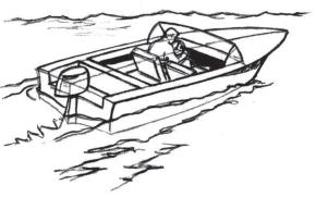 Как нарисовать лодку с людьми поэтапно