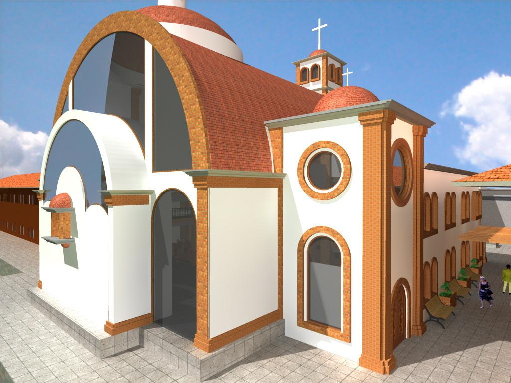 PROYECTO TEMPLO SANTA TERESA DE JESUS VISTA POSTERIOR (ALTAR)