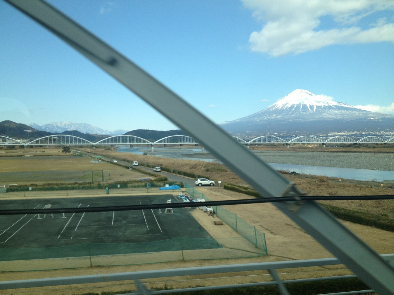 Glimpse of Mount Fuji ... fantastic! — at Mount Fuji.