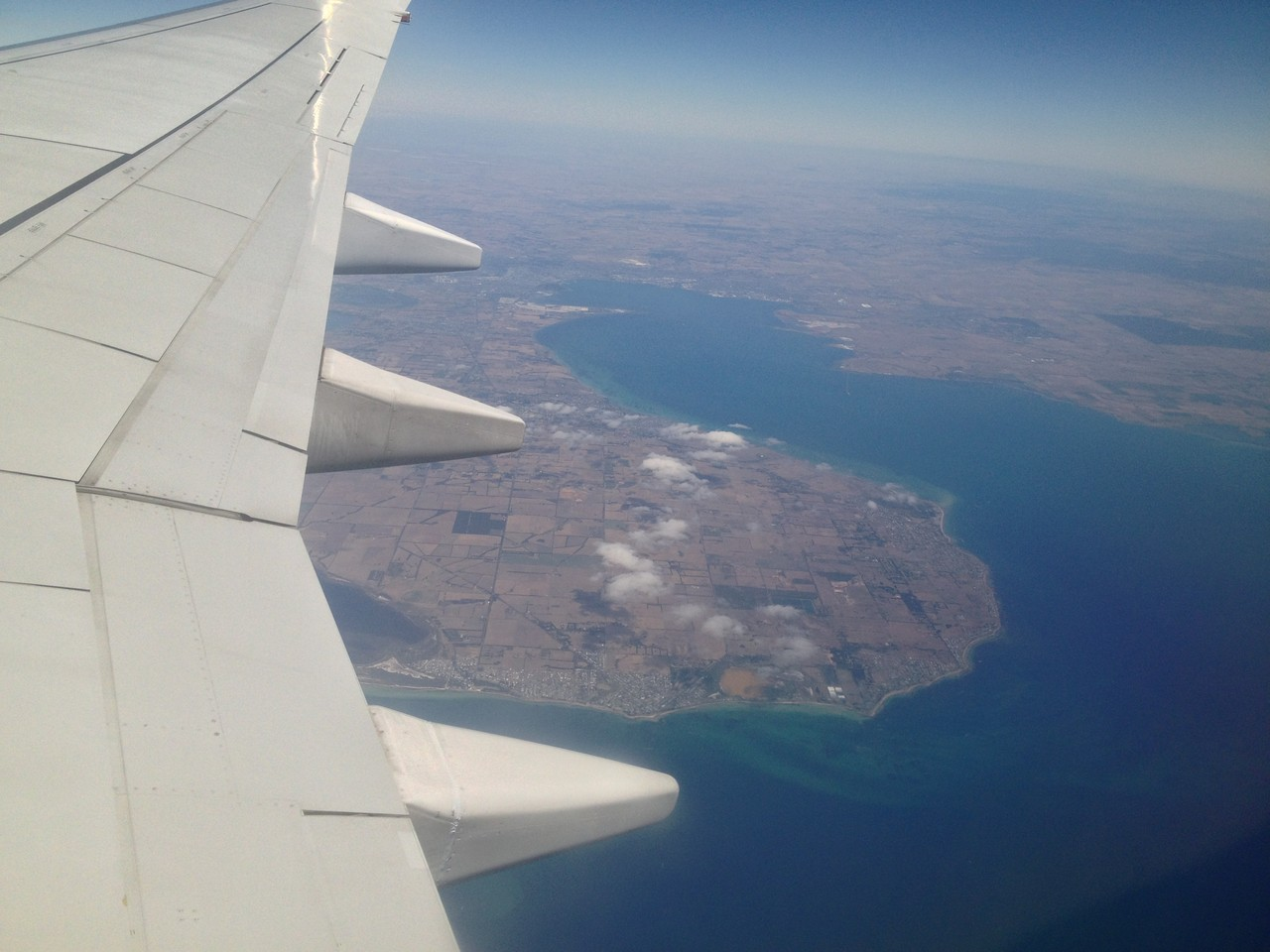 Lovely view of the island from the plane