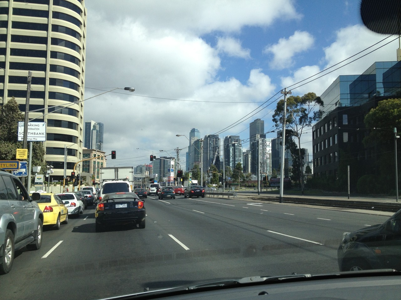 Leaving Melbourne, impressive city