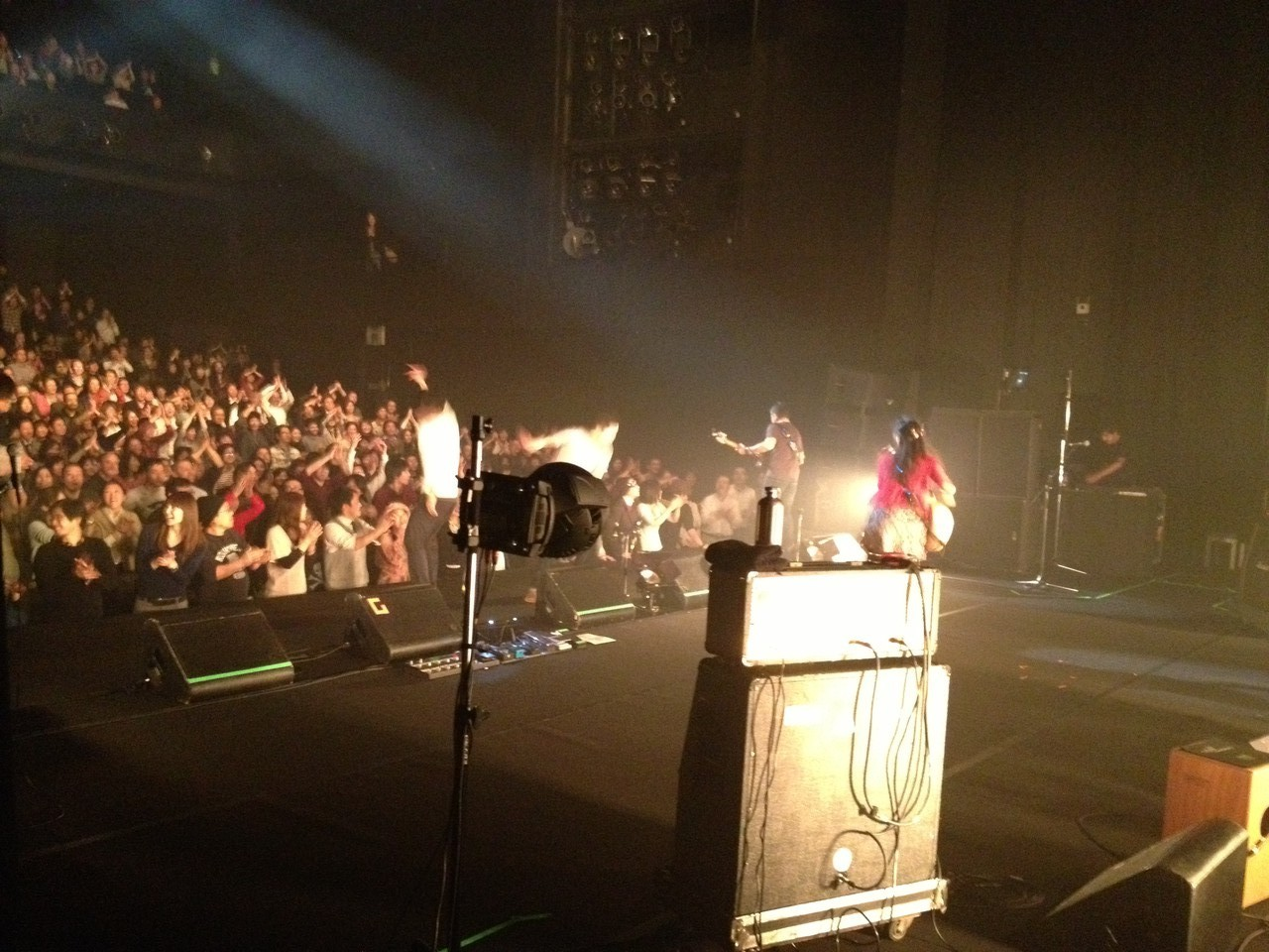 Another very warm crowd! — at Osaka.