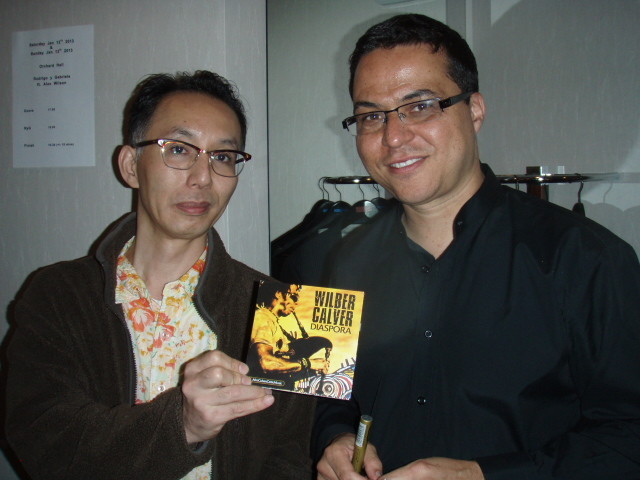 "This is Yoshiyuki, a well known DJ in Japan who plays my music. And he has a copy of the recently released ""Diaspora"" album by Wilber Calver that I released last year!  http://www.amazon.co.uk/Diaspora-Wilber-Calver/dp/B008D2OZP8/ref=sr_1_1?s=music&ie=UT"