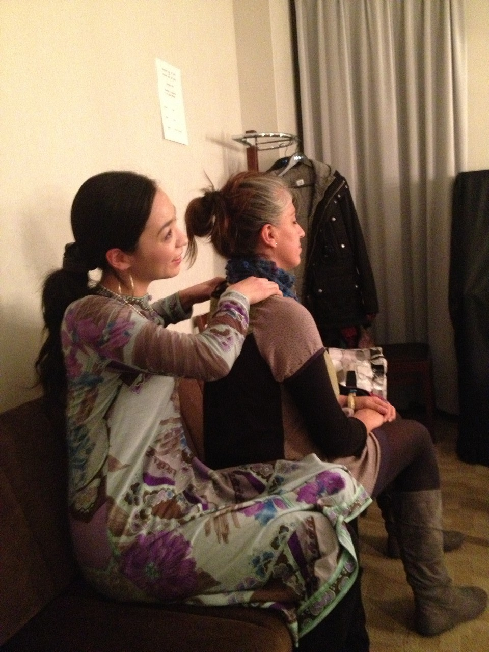 Chris's wife gives Adriana a massage - this is well-overdue as she is always caring for others! — with Adriana Sanchez Zoletto.