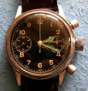 Chronograph Urofa Kaliber 59 verchromtes Gehäuse ohne Drehlynette Dr. Kurtz Memmelsdorf