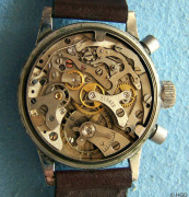 Chronograph Urofa Kaliber 59 vernickeltes Werk Dr. Kurtz Memmelsdorf