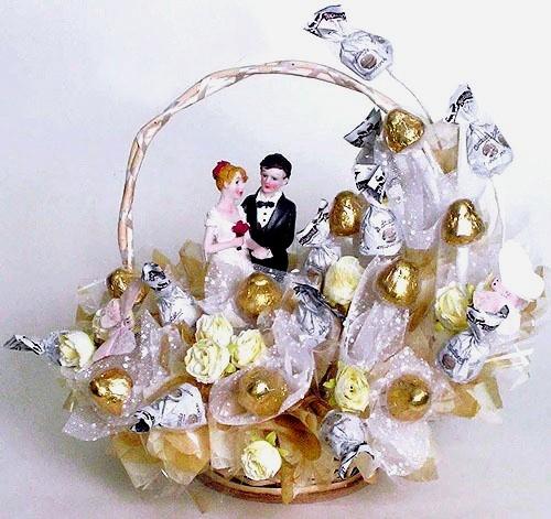 На свадьбу из конфет своими руками пошаговое фото