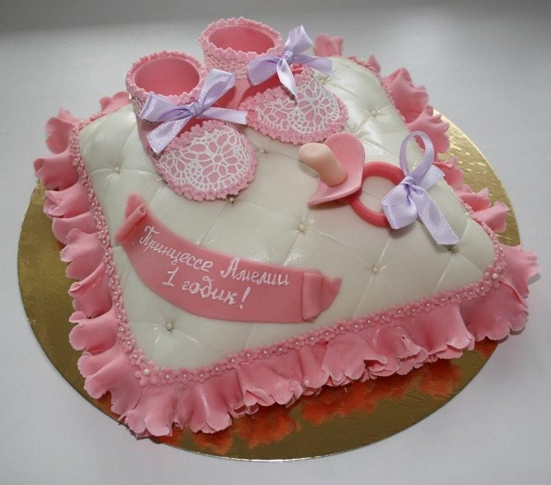 Торт на день рождения ребенка 1 год девочке