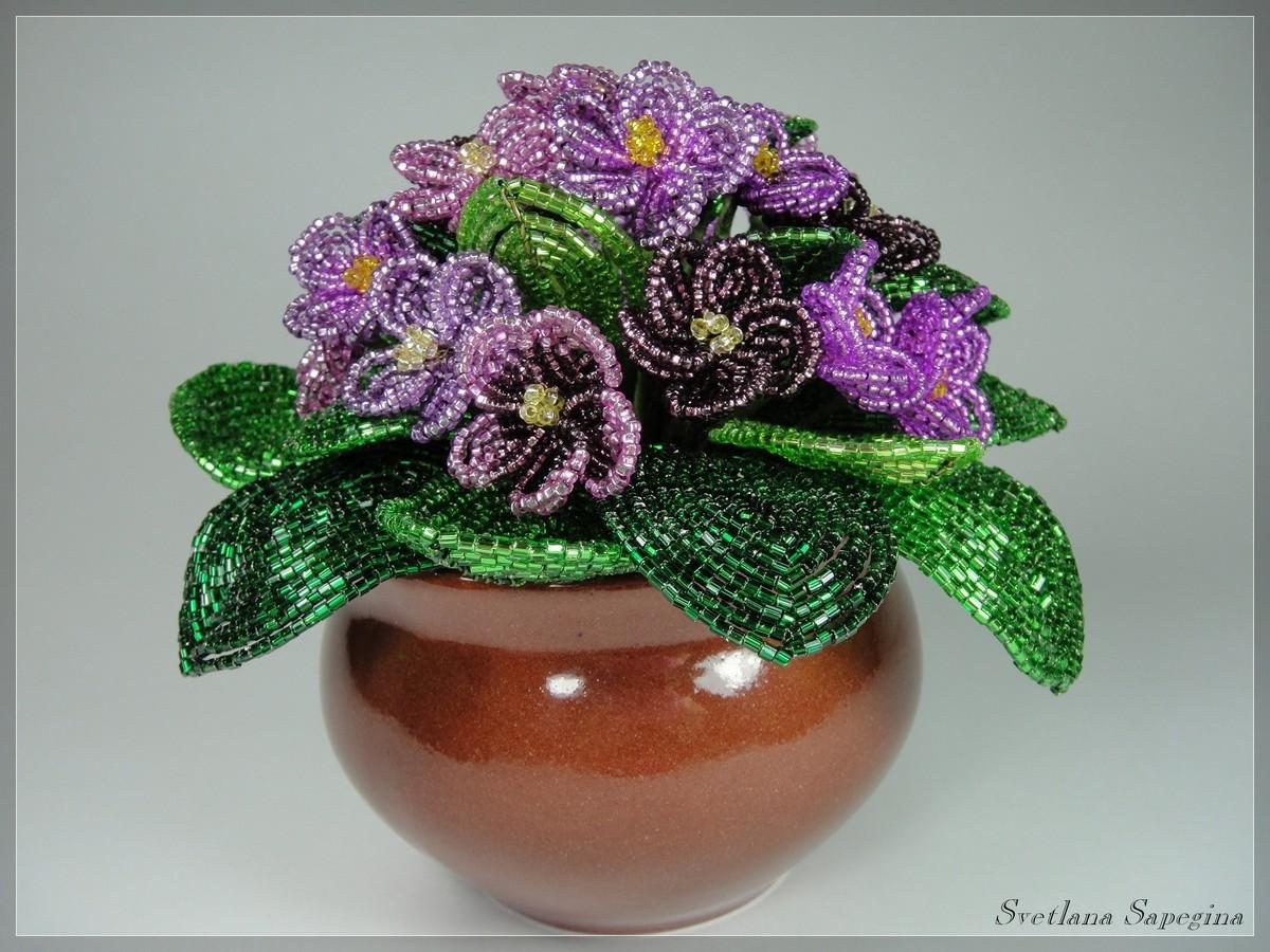 Цветы из бисера светланы сапегиной