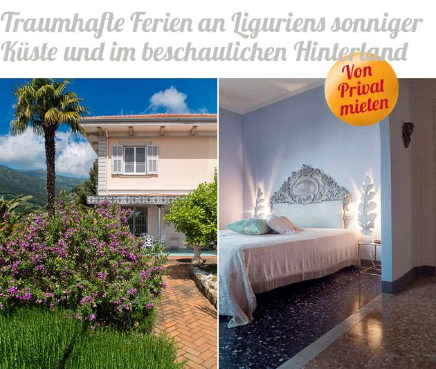 Oder für die große Urlaubsgruppe: Villa d' Artisti in Sanremo.