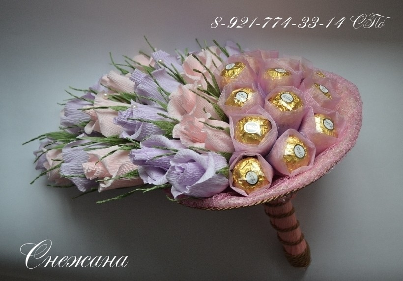 Мастер классы конфетные цветы из гофрированной бумаги