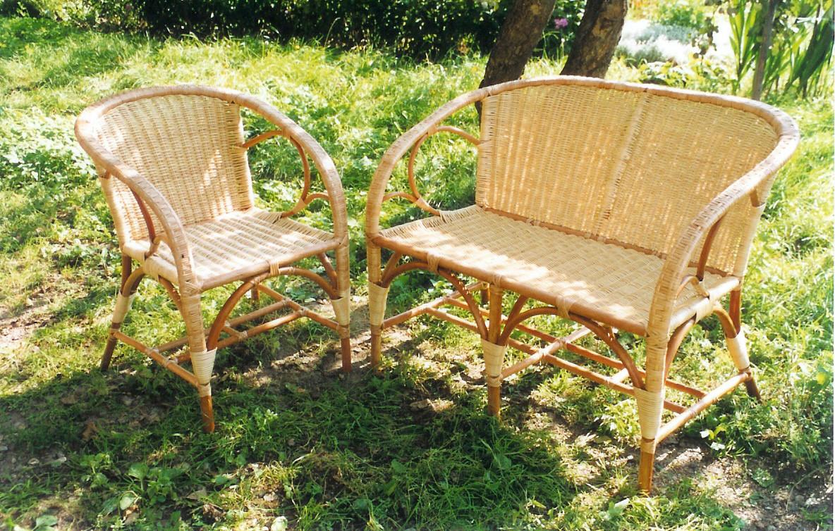 Плетеная садовая мебель своими руками
