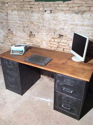 Bureau sur mesure avec mobilier industriel Vente mobilier et