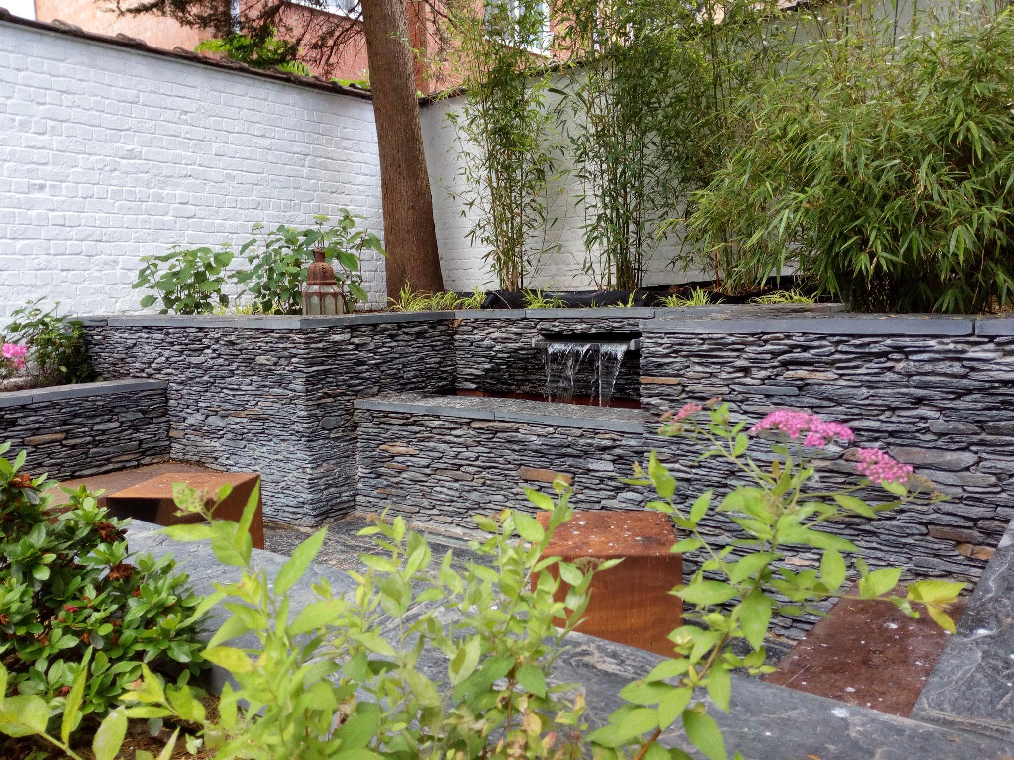 Amenagement jardin bruxelles paysagiste bruxelles - Amenagement petit jardin 40m2 ...