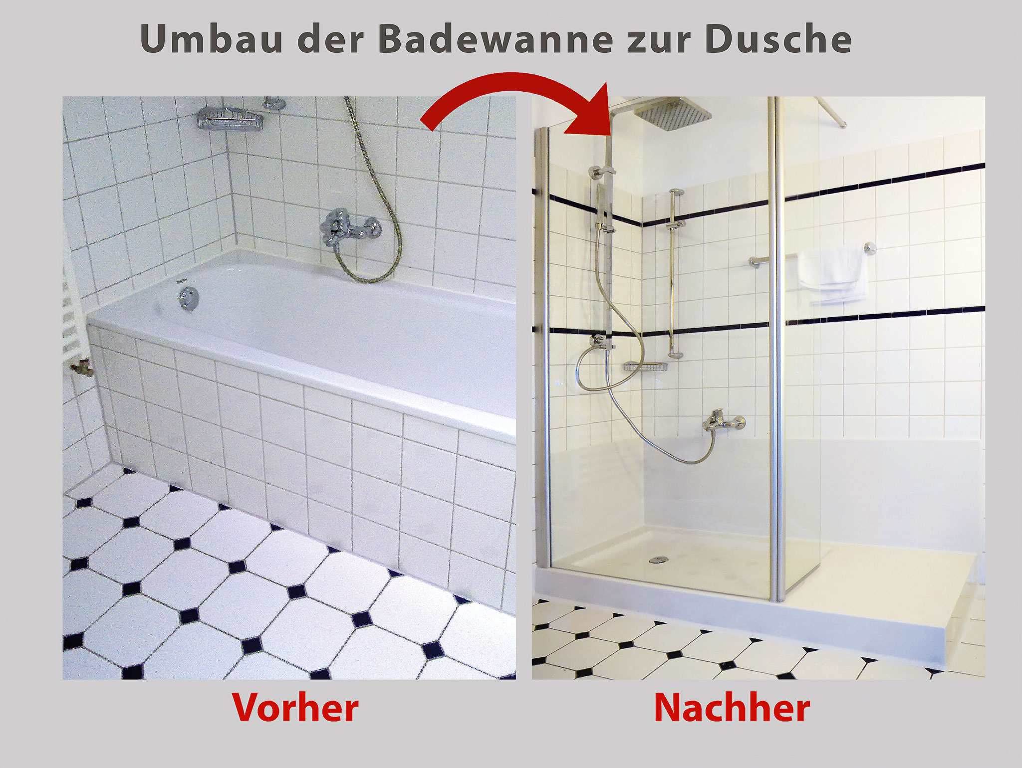 wanne zur dusche badewanne raus dusche rein bad. Black Bedroom Furniture Sets. Home Design Ideas