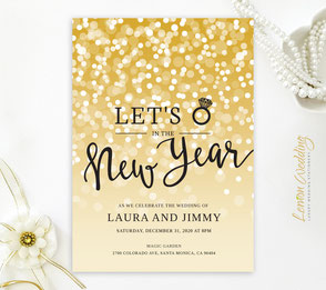 New years eve wedding invitations LemonWedding