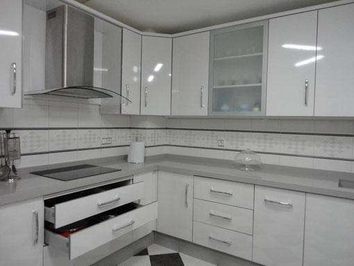 Cocina Blanca Y Gris - Cocinas-blancas-y-grises