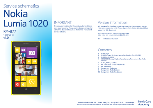 Nokia Schematic Diagrams Free Manuals