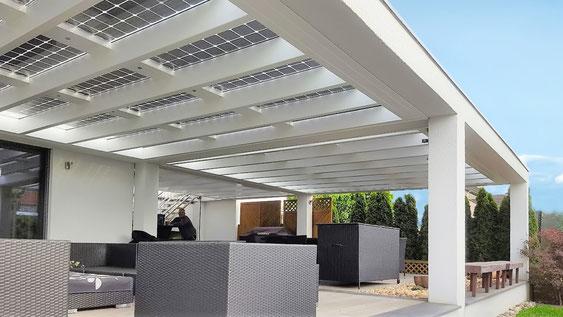 Großartig Solar Terrassendach - Verschattung, Stromerzeugung  UV86