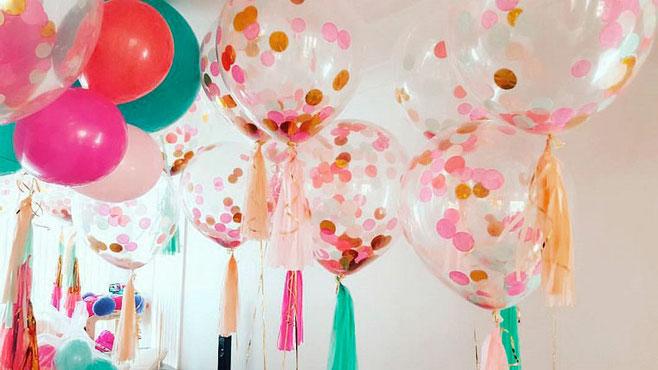 Globos rellenos con Papel decoracion para fiestas