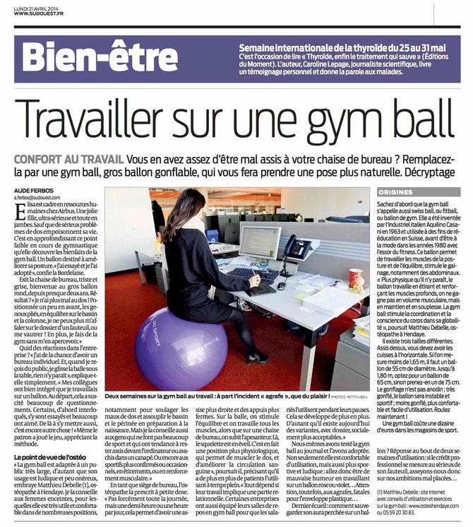 Exceptionnel Swiss ball et ostéopathie à Hendaye - Matthieu Debelle  FJ31
