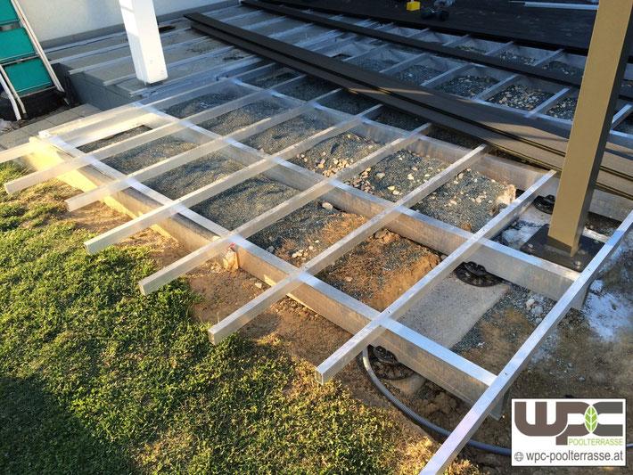 Sehr Gut Bilder WPC Aluminium / Alu- Unterkonstruktion für Terrassendielen  XY56