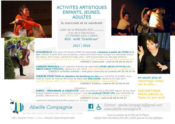 Top Actualités - Abeille Cie conte - eveil artistique - enfant - adulte WE25