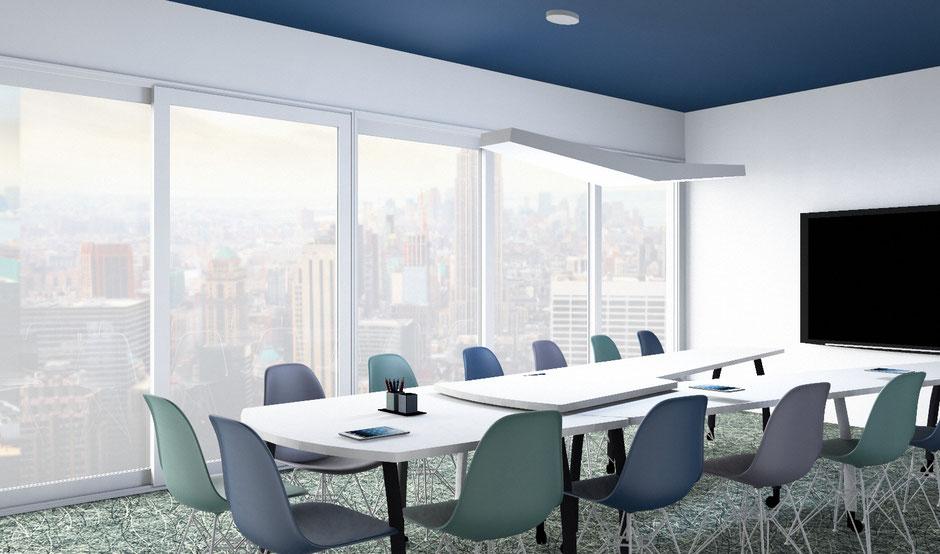 nouvel am nagement pour une salle de r union agence de design d 39 espaces professionnels. Black Bedroom Furniture Sets. Home Design Ideas