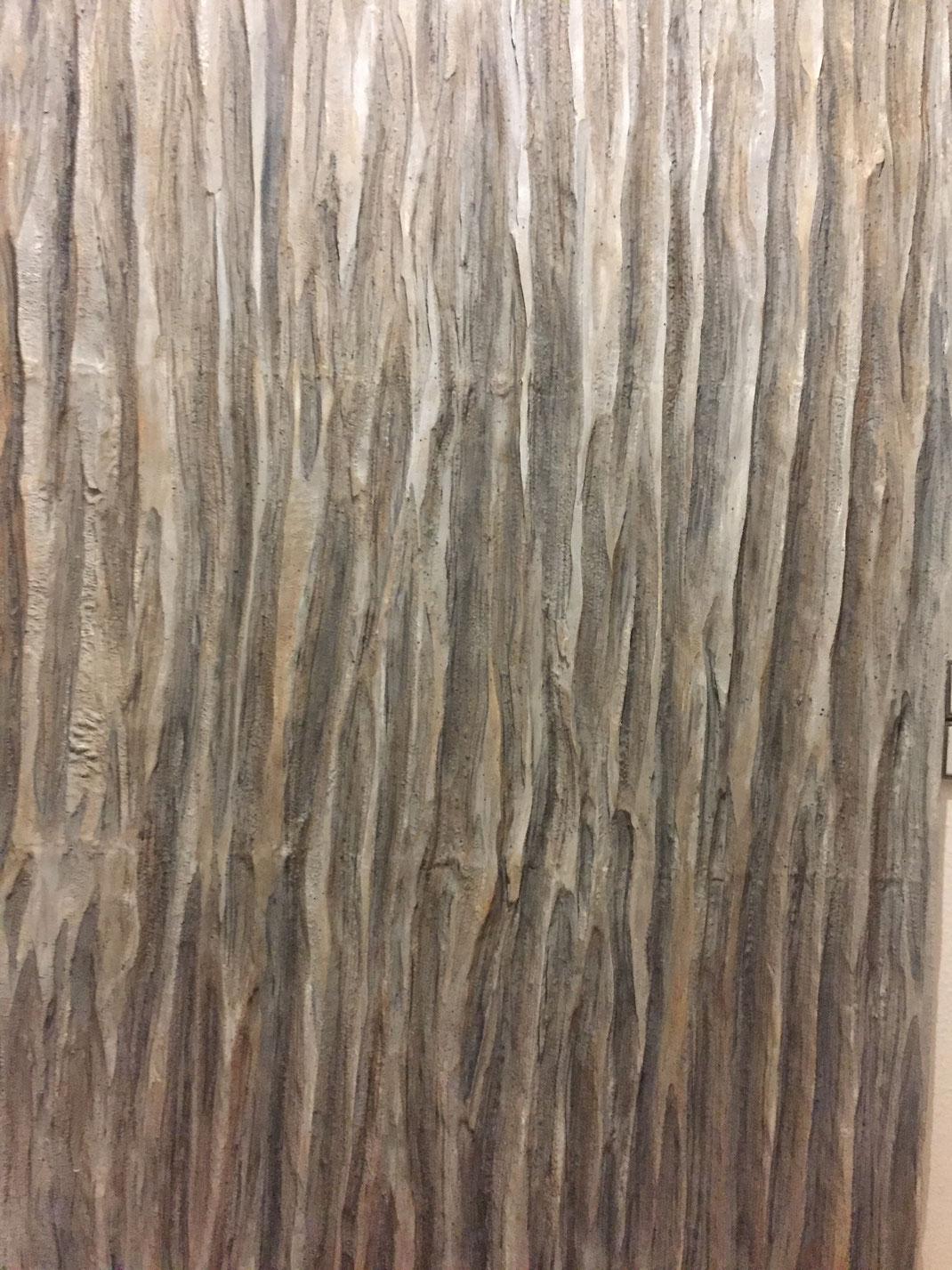 Foam Board made to look like wood.