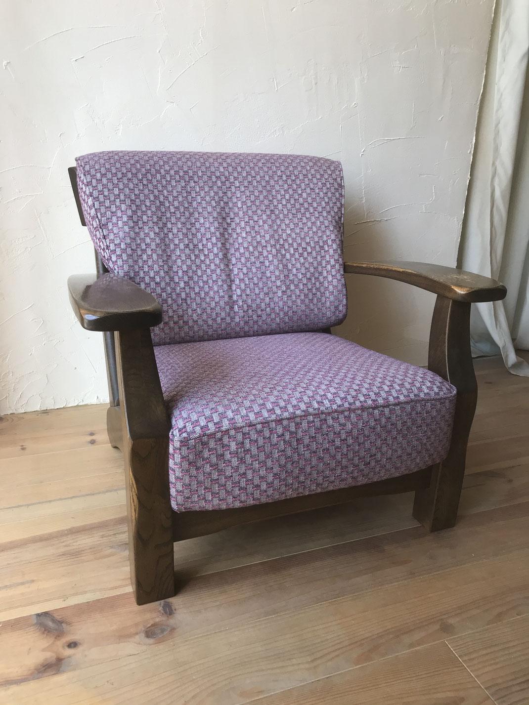 肘掛椅子張替え修理後