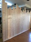 木製仕切り壁