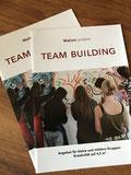 broschüre, team building