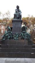 Il monumento del Memoriale di Beethoven (di Caspar Zumbusch).