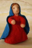 Krippenfiguren, Maria, Filzpuppe, Krippenfigur gefilzt, Susanne Schillinger, WunderFilzig