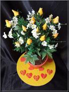 gateau cake design 3d fleur pot