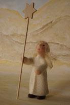 Krippenfiguren, Engel, Verkündigungsengel, Filzfigur, Krippenfiguren gefilzt
