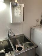 キッチン兼洗面台所