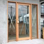 一枚ガラス店舗ドア